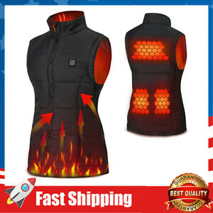 USB Electric Heated Vest Size Adjustable Heated Clothing For Women 3 Temperature