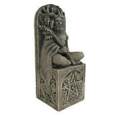 Seated Horned God Statue - Stone Finish - Dryad Designs - Wiccan Wicca Pagan