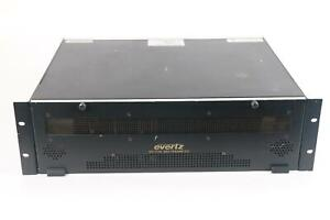 Evertz 7700FR-C Multiframe W/7767VIP12-SN & 7767VIP4-SN Karten