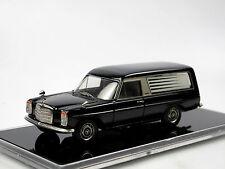 Mercedes-benz w115/8 coche fúnebre, Hearse, construcción Pollmann 1/43 white metal