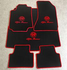 Autoteppich Fußmatten Kofferraum für Alfa Romeo 159 Sportwagon 5tlg schw rot Neu