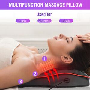 8D Neck Massager Electric Heating Massage Pillow Shoulder Back Kneading Relax