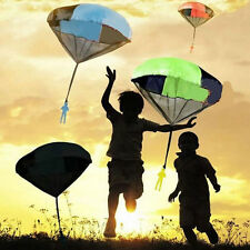 Hot Kids Hand Throwing Parachute With Small Soldier Classic Outdoor Sports Toys