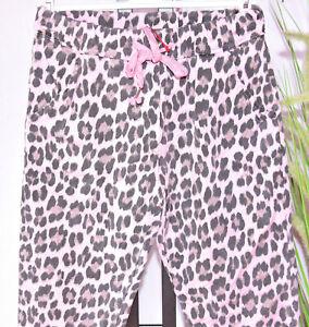 Italy Trend Damen Hose Jeans Leoparden  Pink Beige Fransen G 36,38,40, Neu H-017