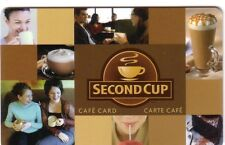SECOND CUP COFFE SHOP CANADA COLLECTIBLE Gift Card New No Value Bilingual