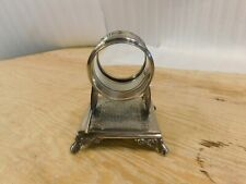 Antique Victorian Simpson Hall Miller Chinese Fans Napkin Ring Silverplate