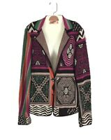 ETRO MILANO Colorful Abstract Print Cardigan Sweater Size 44 US 8