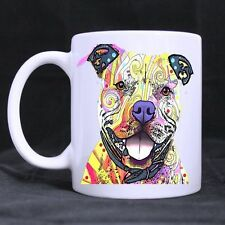 Details about  Generic Cute Pit Bulls Dog Art Ceramic Mug Custom Coffee/Tea Whit