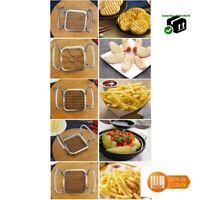 Coupe pommes frites grand format 15*10 cm 5 lames acier inoxydable frite pomme