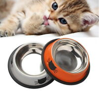 Cute Cat Claw Feeding Bowls Stainless Steel Pet Dog Cat Food Water Feeder