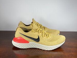 Men's Nike Epic React Flyknit 2 Gold/Orange Running Sneakers BQ8928-700 Size 11