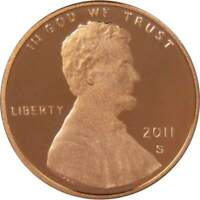 2011 S Lincoln Shield Cent Choice Proof Penny 1c Coin Collectible