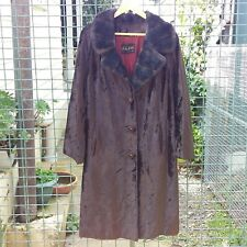 Gorgeous Full Length Vintage Faux Fur Coat Jacket MARTIN MODDEL 12 Penny Lane