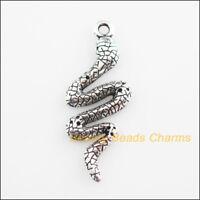 100pcs tibetan silver tone snake design charms EF2214