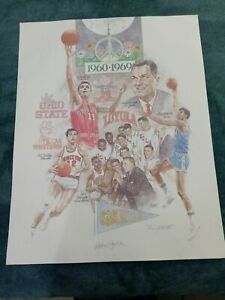 NCAA FINAL FOUR 1960-1969 SIGNED & NUMBERED LITHO KAREEM ABDUL JABBAR + MARTIN