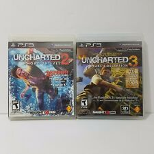 PS3 Uncharted 2 & 3 Game Bundle PlayStation 3 Open World Action Adventure