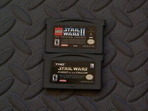 Lot Nintendo Game Boy Advance GBA Games LEGO Star Wars II + Flight of Falcon