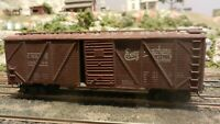 Roundhouse MDC Vintage HO 40' Burlington Outside Braced Boxcar All Diecast  Exc.