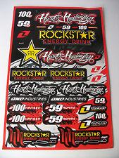 Rockstar Motocross Enduro Motorcycle Skate Board Bmx Decals Sticker Graphics Kit