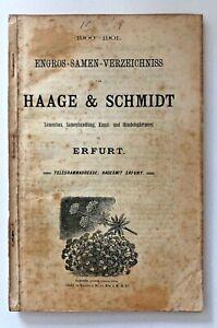 Catalogue De Haage & Schmidt 1900-1901