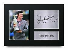 More details for rory mcilroy signed pre printed autograph a4 photo gift for a golf fan