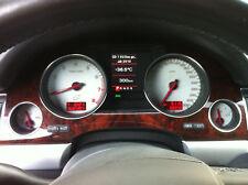 D Audi A8 4E W12 300 km/h 320 km/h Tachoscheibe weiß - andere Farben möglich