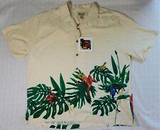 *New* The Frogman Clothing Co. Hawaiian Frog 100% Silk Button Shirt Size 2Xl