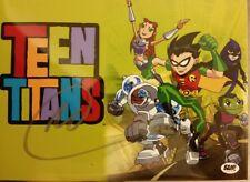 GREG CIPES Signed 8x10 TEEN TITANS Beast Boy, Cartoon exclusive. GO! DC Comics