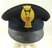 VINTAGE 1950-60 ITALY POLICE POLIZIA DI STATO OBSOLETE OFFICER VISOR HAT BULLION
