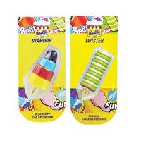 2 x Walls Ice Cream Lolly Car Home Air Freshener Freshner TWISTER + STARSHIP