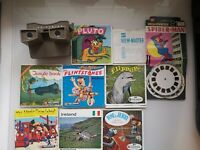 Vintage Sawyers Viewmaster + Slide Reel Bundle - 8 x Packs Inc Disney, Spiderman