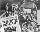 """Prohibition Ends At Last 8"""" - 10"""" B&W Photo Reprint"""