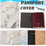 Marble Pattern Passport Holder Leather Cover Travel ID Wallet Credit Card Case