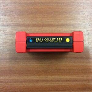 ER11 Collet Set 13 Collets 0.5-7.0 Mm Diameter (0.5 Collapse) Class 1 BNIB