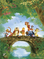 Disney Jigsaw Puzzle 200 Large Pieces Winnie the Pooh Pooh and Friends on Bridge