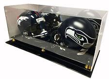 Max Deluxe Acrylic Double Full Size Football Helmet Display Case