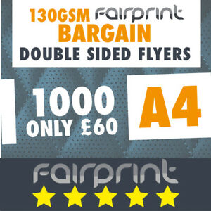 1000 A4 Flyers Leaflets Printed 130gsm Gloss