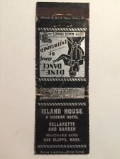 Vintage Martha's Vineyard Matchcover ~ Island House Hotel Bar Oak Bluffs 1940s