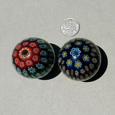 2 early production large round chinese millefiori beads # 3176