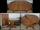 Antique+Quarter+Sawn+Oak+45%22+Round+Claw+Foot+Dining+Table+w+3+Leaves+We+Ship%21