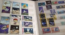 Stamp Collection Stamp album  Space Moon Apollo Spacecraft Bulk x 268 space