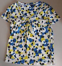 Ladies Maine (Debenhams) green + blue patterned top  - size 12 (40)