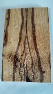 Stabilized MARBLEWOOD, South AmericanBOOK MATCHED knife scales blanks gun grips