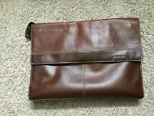 Fossil Croc Leather Tote Briefcase