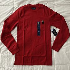 Polo Ralph Lauren Polo Bear Crew Neck Waffle Knit Thermal Men's Sz: Small NWT