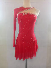 Custom Fashion Ice figure Skating Dresses skating costumes For Adults  Girls RED