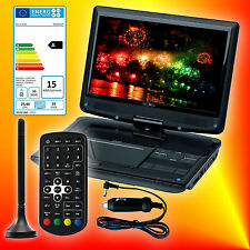 Reflexion DVD1017 tragbarer DVB-T2 HD Fernseher mit DVD-Player 12V/230V TV EEK A