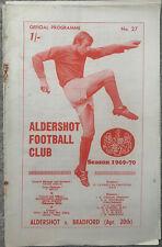 More details for aldershot v bradford park avenue 1969/70