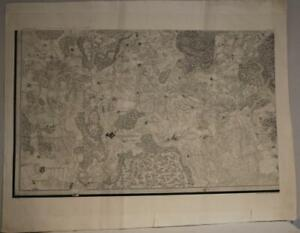 ST. PETERSBURG REGION RUSSIA  1817 ANONYMOUS UNUSUAL ANTIQUE CYRILLIC MAP