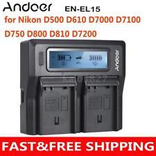 Andoer EN-EL15 DC Digital Camera Battery Charger for Nikon D7200 D500 D610 V7N0